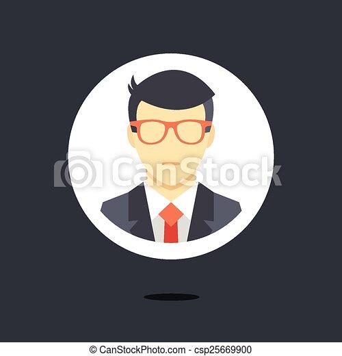 ember, ikon, vektor, üzlet alkalmaz - csp25669900