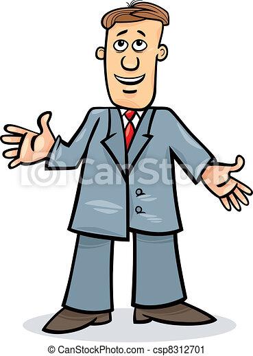 ember, karikatúra, illeszt - csp8312701