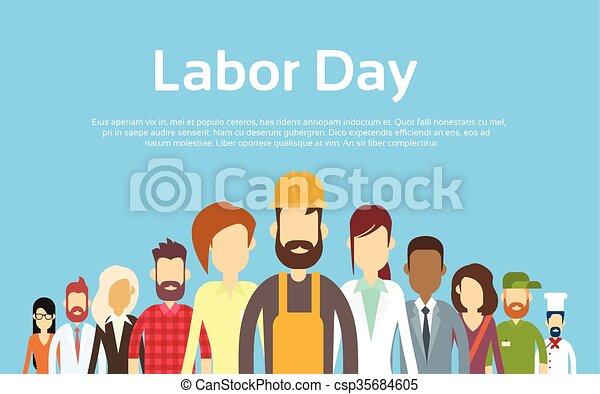 emberek, állhatatos, csoport, különböző, nemzetközi, foglalkozás, nap, munka - csp35684605