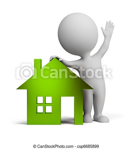 emberek, épület, -, pohár, kicsi, 3 - csp6685899