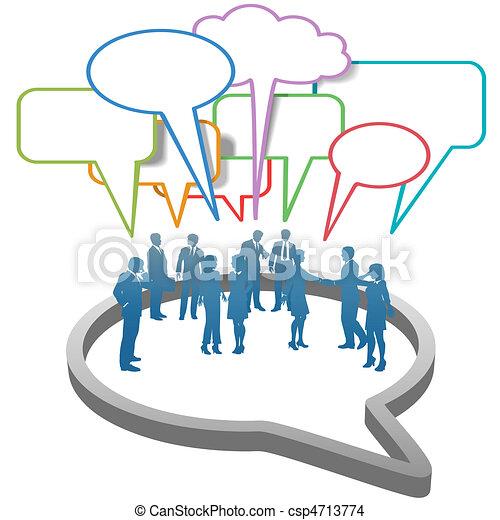 emberek ügy, buborék, hálózat, belső, társadalmi, beszéd - csp4713774