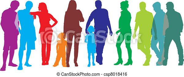 emberek, csoport - csp8018416