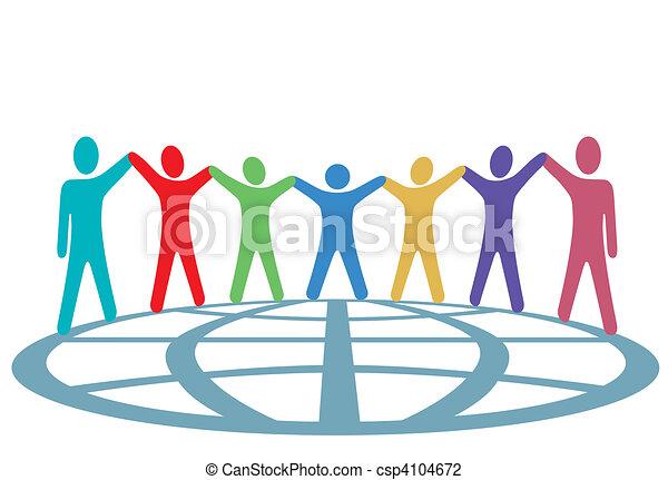 emberek, földgolyó, feláll, fegyver, befest, kézbesít, befolyás - csp4104672