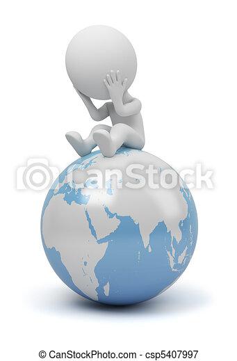 emberek, -, globális, kérdez, kicsi, 3 - csp5407997