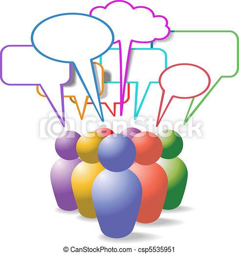 emberek, média, jelkép, beszéd, társadalmi, panama - csp5535951