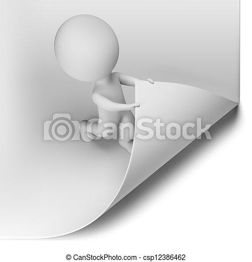 emberek, -, oldal, kicsi, felcsavar, 3 - csp12386462