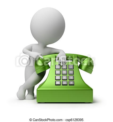emberek, -, telefonhívás, kicsi, 3 - csp6128395