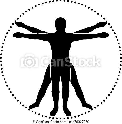 emberi, háttér, fehér, ikon, test, elszigetelt - csp76327360