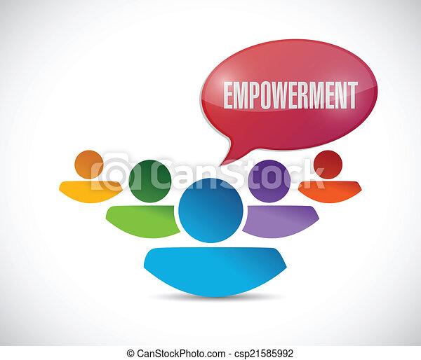 empowerment, csapatmunka, üzenet - csp21585992