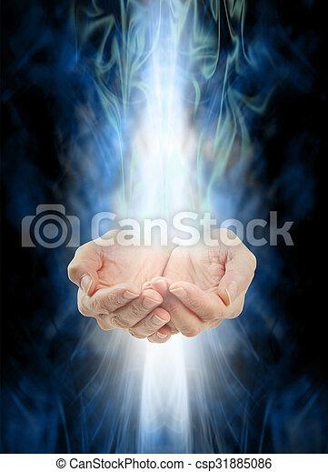 energia, gyógyulás, felfogó - csp31885086