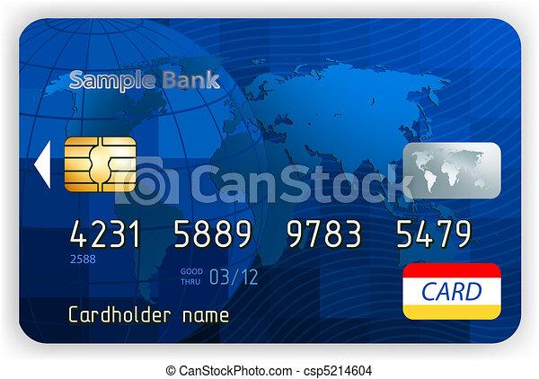 eps, (no, hitel, transparency)., elülső, 8, kártya, kilátás - csp5214604