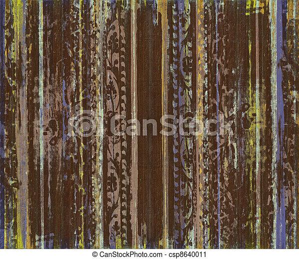 erdő, felcsavar, csíkoz, barna, grungy, munka - csp8640011