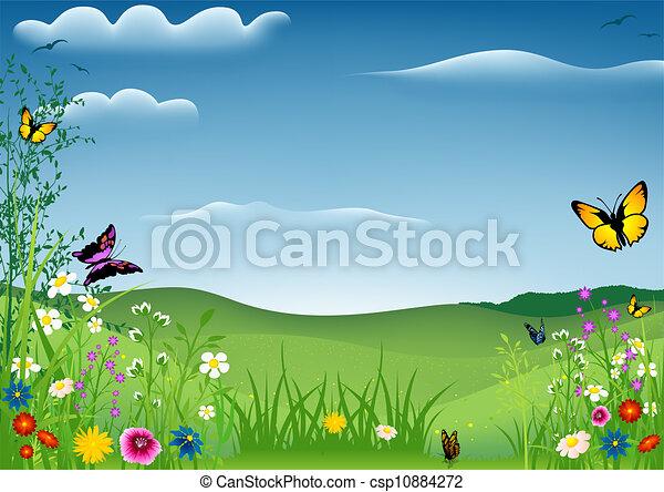 eredet, pillangók, táj - csp10884272