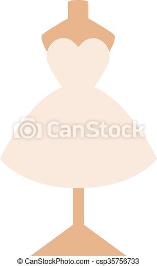 esküvő öltözködik, háttér, elszigetelt, fehér - csp35756733