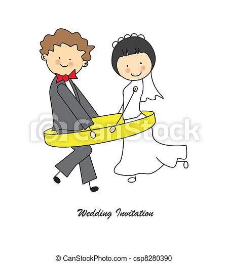 esküvő invitation - csp8280390