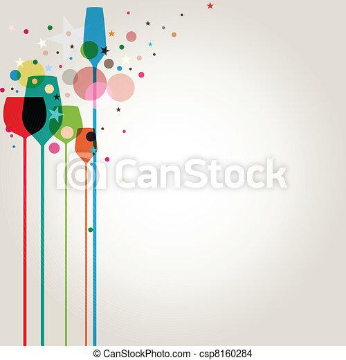 fél, színes, iszik - csp8160284