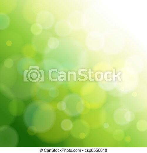 fény, elvont, zöld, háttér. - csp8556648