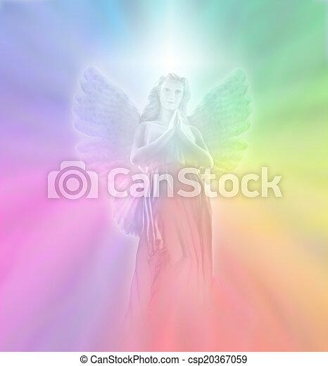 fény, isteni, angyal - csp20367059