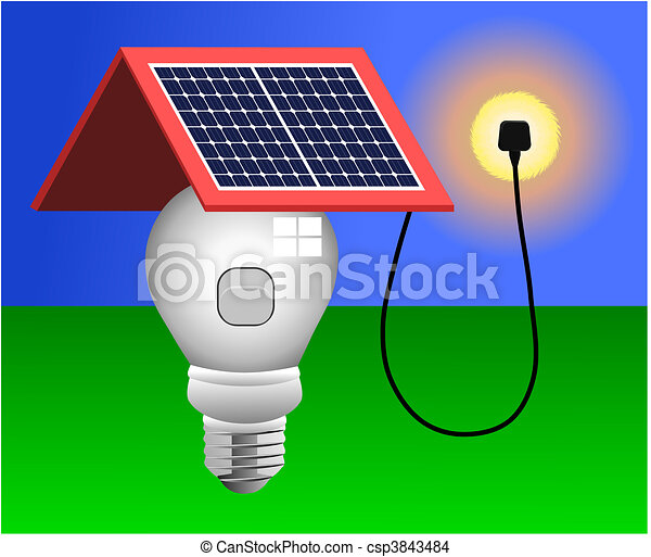 fény, vektor, fanyergek, napenergia - csp3843484