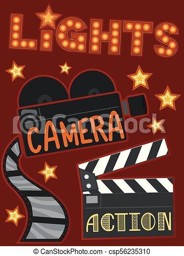 fényképezőgép, ábra, állati tüdő, akció - csp56235310