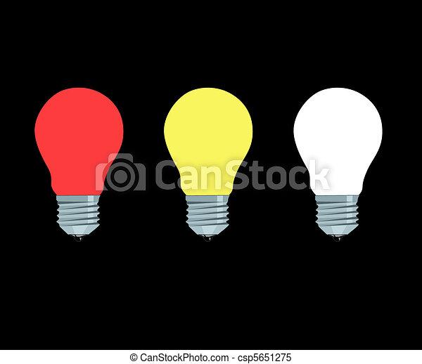 fénylő, lámpa, elektromos - csp5651275