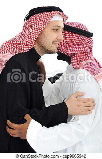 férfiak, két, meleg, arab, gyűlés, birtoklás - csp9665342