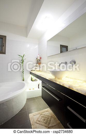 fürdőszoba, modern - csp2734680