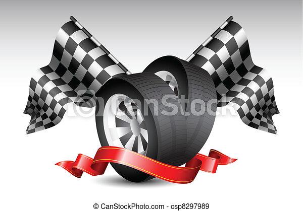 faj, zászlók, kerék - csp8297989