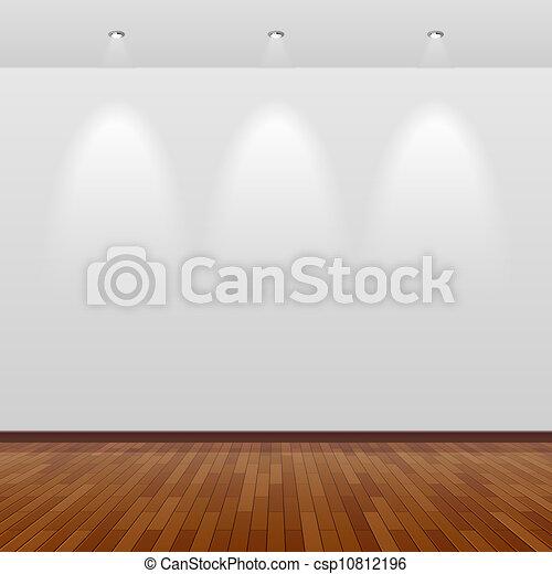 fal, fehér, erdő, szoba, üres - csp10812196