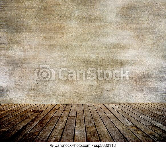 fal, paneled, erdő, grunge, emelet - csp5830118