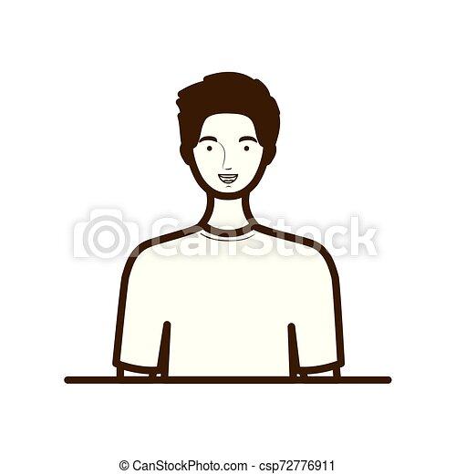 fehér, árnykép, háttér, ember - csp72776911