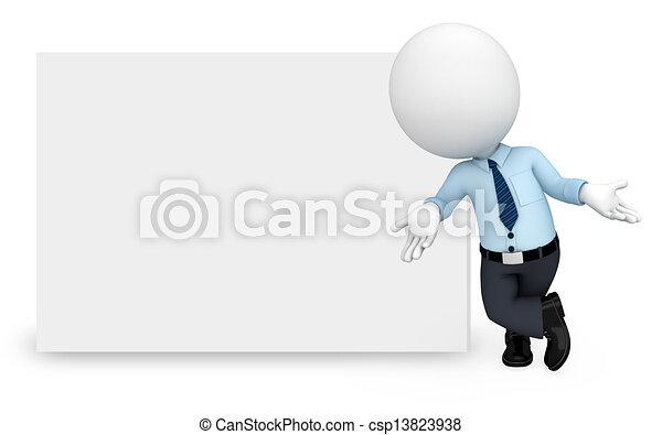 fehér, ember, szolgáltatás, munka emberek - csp13823938