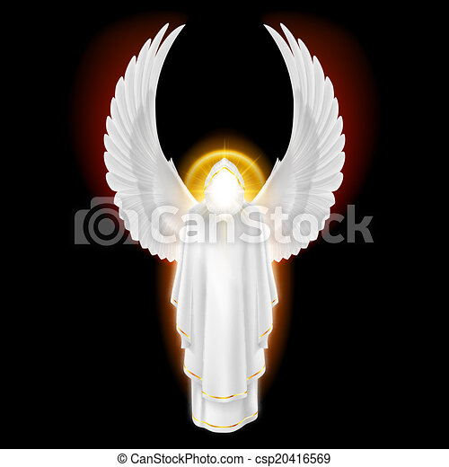 fehér, fekete, angyal - csp20416569
