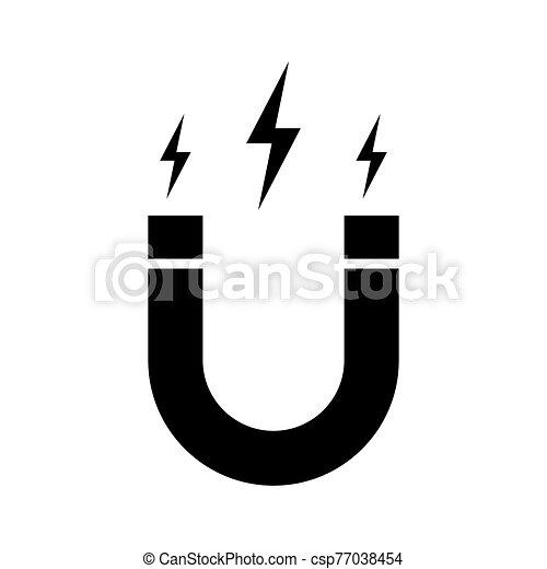 fehér, ikon, elszigetelt, vektor, mágnes - csp77038454