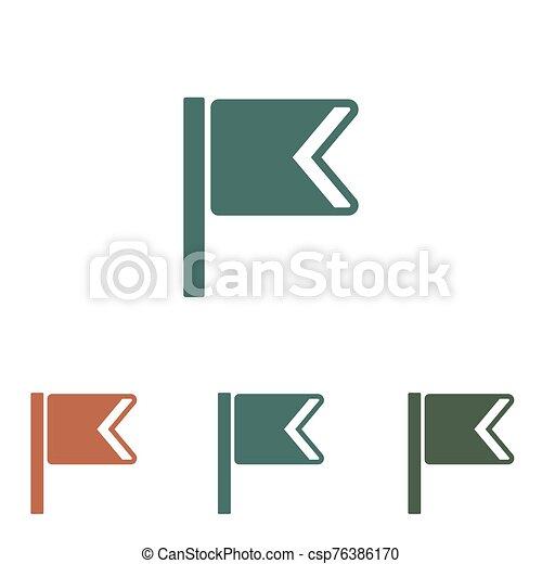 fehér, ikon, lobogó, elszigetelt, háttér - csp76386170