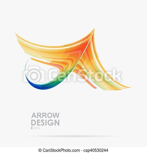 fehér, tervezés, nyíl, háttér - csp40530244
