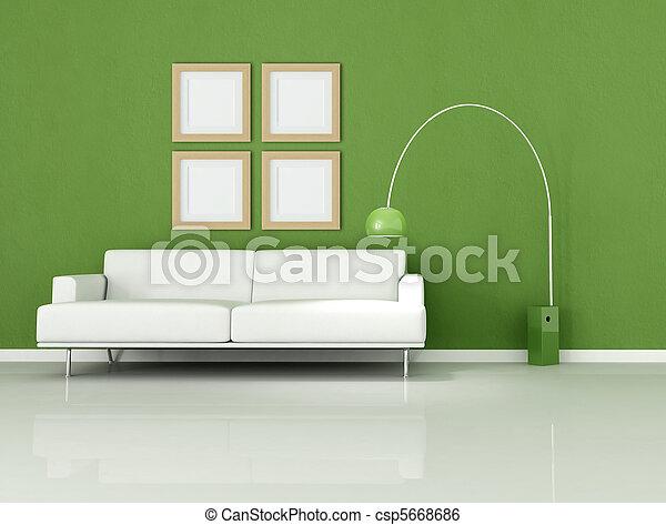 fehér, zöld, nappali, minimális - csp5668686