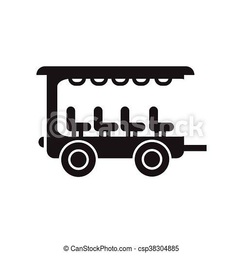 fekete, mód, ikon, fehér, kúszónövény, autó, lakás - csp38304885