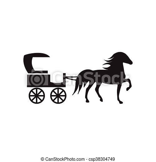 fekete, mód, ikon, white ló, kocsi, lakás - csp38304749