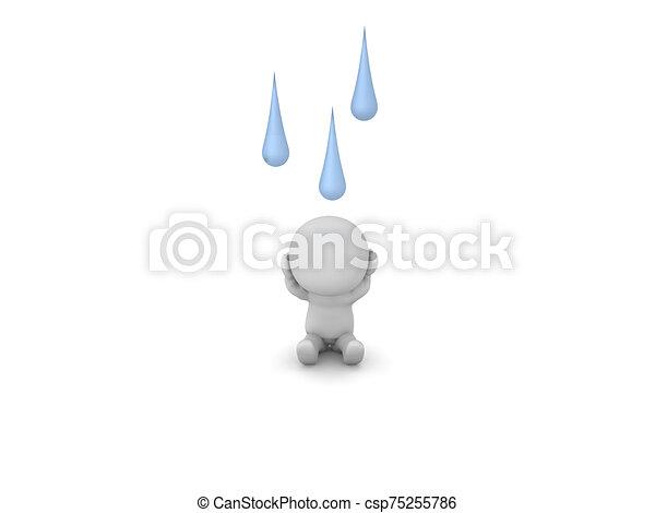 felül, őt, betű, esőcseppek, hansúlyos, 3 - csp75255786
