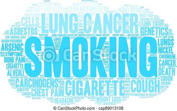 felhő, cigaretta, szó - csp89013108