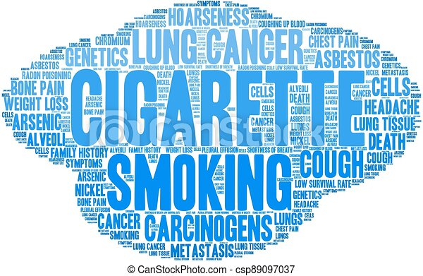 felhő, szó, cigaretta - csp89097037