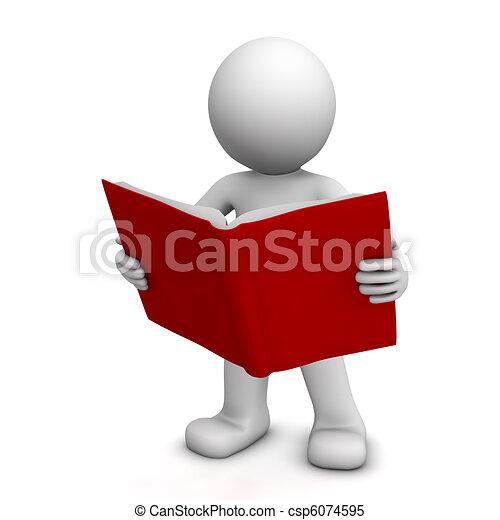 felolvasás, betű, könyv, 3 - csp6074595