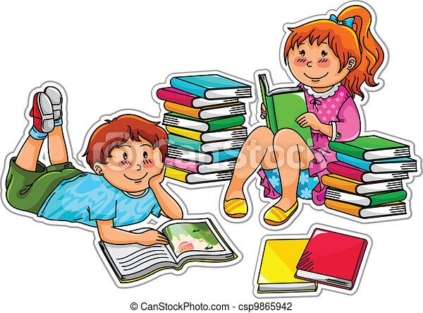 felolvasás, gyerekek - csp9865942