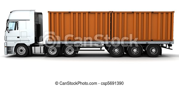 felszabadítás, konténer, rakomány, jármű - csp5691390