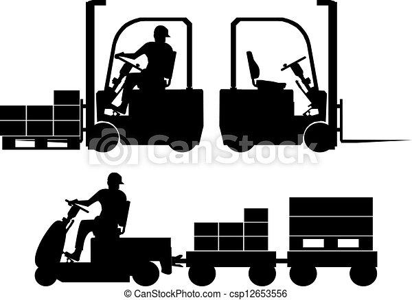 felszerelés, körvonal, munkaszervezési - csp12653556