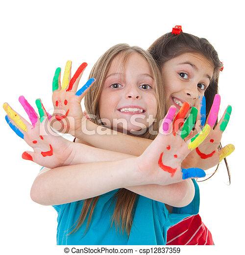 festék, gyermekek játék - csp12837359