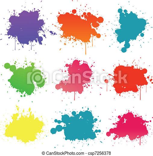 festék, locsogás, gyűjtés - csp7256378