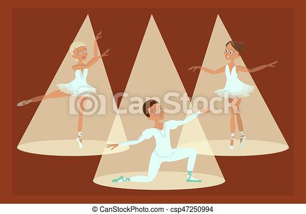 fiú, balett-táncosok, lány - csp47250994