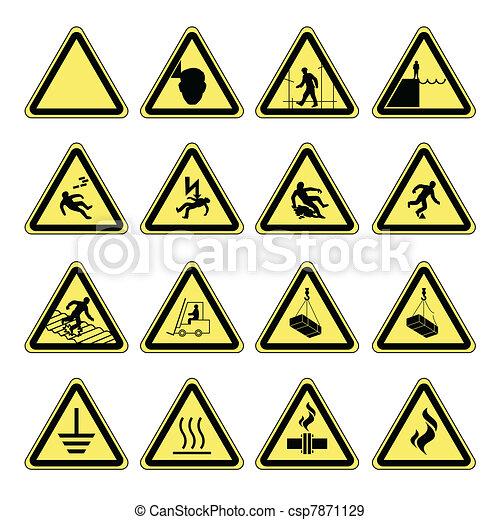 figyelmeztetés, egészség, biztonság, kockázat, & - csp7871129